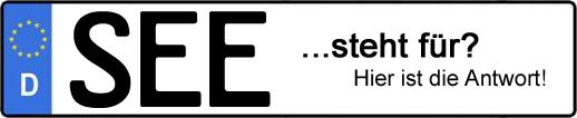 Wofür steht das Kfz-Kennzeichen SEE? | Kfz-Kennzeichen - AUTOPURISTEN.net