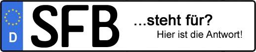 Wofür steht das Kfz-Kennzeichen SFB? | Kfz-Kennzeichen - AUTOPURISTEN.net