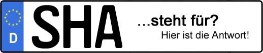 Wofür steht das Kfz-Kennzeichen SHA? | Kfz-Kennzeichen - AUTOPURISTEN.net
