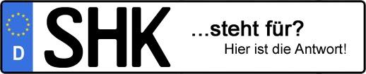 Wofür steht das Kfz-Kennzeichen SHK? | Kfz-Kennzeichen - AUTOPURISTEN.net