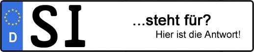 Wofür steht das Kfz-Kennzeichen SI? | Kfz-Kennzeichen - AUTOPURISTEN.net