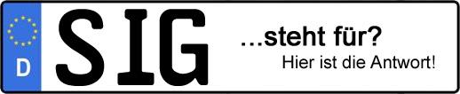 Wofür steht das Kfz-Kennzeichen SIG? | Kfz-Kennzeichen - AUTOPURISTEN.net