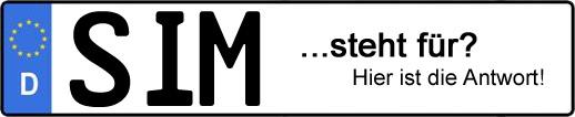 Wofür steht das Kfz-Kennzeichen SIM? | Kfz-Kennzeichen - AUTOPURISTEN.net