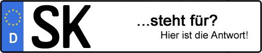 Wofür steht das Kfz-Kennzeichen SK? | Kfz-Kennzeichen - AUTOPURISTEN.net