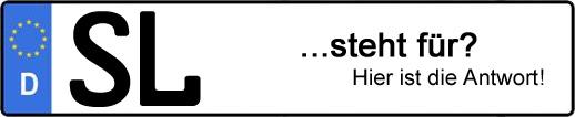 Wofür steht das Kfz-Kennzeichen SL? | Kfz-Kennzeichen - AUTOPURISTEN.net