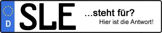 Wofür steht das Kfz-Kennzeichen SLE? | Kfz-Kennzeichen - AUTOPURISTEN.net