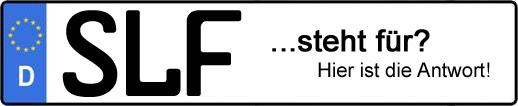 Wofür steht das Kfz-Kennzeichen SLF? | Kfz-Kennzeichen - AUTOPURISTEN.net