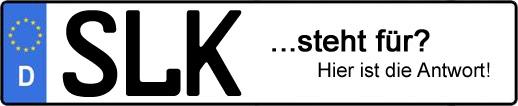 Wofür steht das Kfz-Kennzeichen SLK? | Kfz-Kennzeichen - AUTOPURISTEN.net