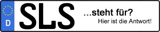 Wofür steht das Kfz-Kennzeichen SLS? | Kfz-Kennzeichen - AUTOPURISTEN.net