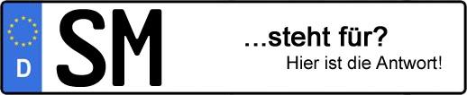 Wofür steht das Kfz-Kennzeichen SM? | Kfz-Kennzeichen - AUTOPURISTEN.net