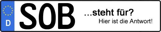 Wofür steht das Kfz-Kennzeichen SOB? | Kfz-Kennzeichen - AUTOPURISTEN.net