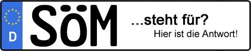 Wofür steht das Kfz-Kennzeichen SÖM? | Kfz-Kennzeichen - AUTOPURISTEN.net