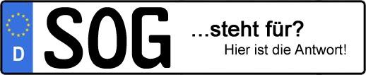 Wofür steht das Kfz-Kennzeichen SOG? | Kfz-Kennzeichen - AUTOPURISTEN.net