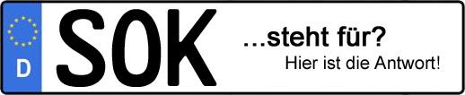 Wofür steht das Kfz-Kennzeichen SOK? | Kfz-Kennzeichen - AUTOPURISTEN.net