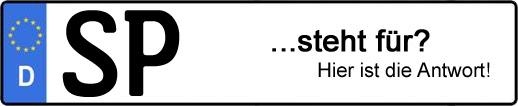 Wofür steht das Kfz-Kennzeichen SP? | Kfz-Kennzeichen - AUTOPURISTEN.net