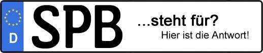 Wofür steht das Kfz-Kennzeichen SPB? | Kfz-Kennzeichen - AUTOPURISTEN.net