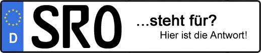 Wofür steht das Kfz-Kennzeichen SRO? | Kfz-Kennzeichen - AUTOPURISTEN.net