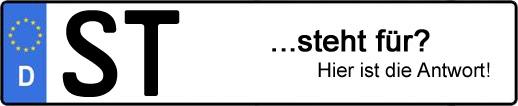 Wofür steht das Kfz-Kennzeichen ST? | Kfz-Kennzeichen - AUTOPURISTEN.net