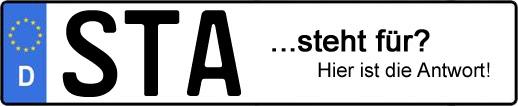 Wofür steht das Kfz-Kennzeichen STA? | Kfz-Kennzeichen - AUTOPURISTEN.net