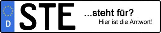 Wofür steht das Kfz-Kennzeichen STE? | Kfz-Kennzeichen - AUTOPURISTEN.net
