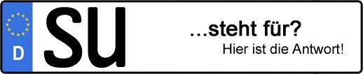 Wofür steht das Kfz-Kennzeichen SU? | Kfz-Kennzeichen - AUTOPURISTEN.net