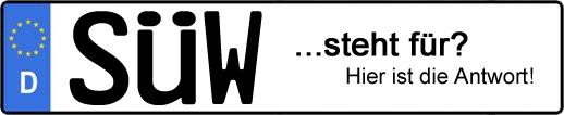 Wofür steht das Kfz-Kennzeichen SÜW? | Kfz-Kennzeichen - AUTOPURISTEN.net