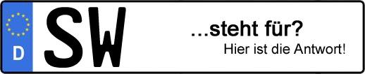 Wofür steht das Kfz-Kennzeichen SW? | Kfz-Kennzeichen - AUTOPURISTEN.net