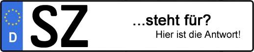 Wofür steht das Kfz-Kennzeichen SZ? | Kfz-Kennzeichen - AUTOPURISTEN.net