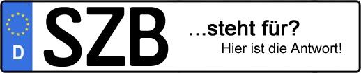 Wofür steht das Kfz-Kennzeichen SZB? | Kfz-Kennzeichen - AUTOPURISTEN.net