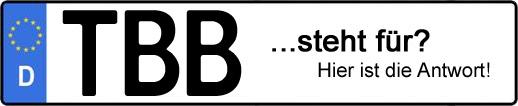 Wofür steht das Kfz-Kennzeichen TBB? | Kfz-Kennzeichen - AUTOPURISTEN.net