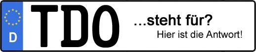 Wofür steht das Kfz-Kennzeichen TDO? | Kfz-Kennzeichen - AUTOPURISTEN.net