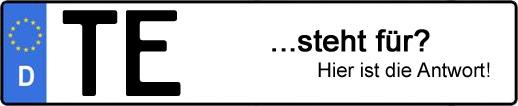 Wofür steht das Kfz-Kennzeichen TE? | Kfz-Kennzeichen - AUTOPURISTEN.net