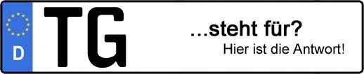 Wofür steht das Kfz-Kennzeichen TG? | Kfz-Kennzeichen - AUTOPURISTEN.net