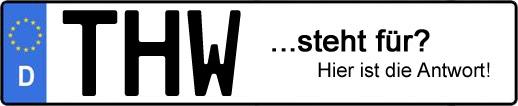 Wofür steht das Kfz-Kennzeichen THW? | Kfz-Kennzeichen - AUTOPURISTEN.net