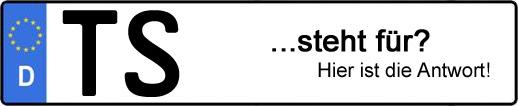 Wofür steht das Kfz-Kennzeichen TS? | Kfz-Kennzeichen - AUTOPURISTEN.net