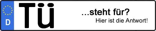 Wofür steht das Kfz-Kennzeichen TÜ? | Kfz-Kennzeichen - AUTOPURISTEN.net