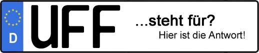 Wofür steht das Kfz-Kennzeichen UFF? | Kfz-Kennzeichen - AUTOPURISTEN.net