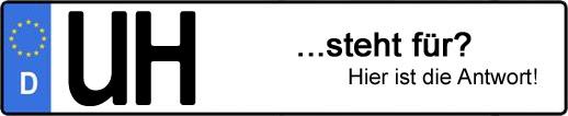 Wofür steht das Kfz-Kennzeichen UH? | Kfz-Kennzeichen - AUTOPURISTEN.net