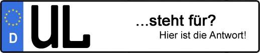 Wofür steht das Kfz-Kennzeichen UL? | Kfz-Kennzeichen - AUTOPURISTEN.net