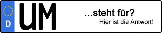 Wofür steht das Kfz-Kennzeichen UM? | Kfz-Kennzeichen - AUTOPURISTEN.net