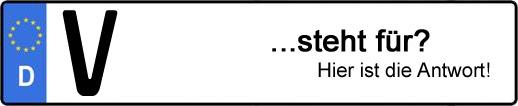 Wofür steht das Kfz-Kennzeichen V? | Kfz-Kennzeichen - AUTOPURISTEN.net