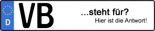 Wofür steht das Kfz-Kennzeichen VB? | Kfz-Kennzeichen - AUTOPURISTEN.net