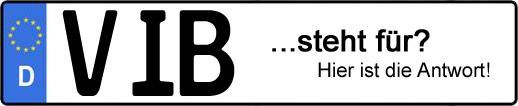 Wofür steht das Kfz-Kennzeichen VIB? | Kfz-Kennzeichen - AUTOPURISTEN.net