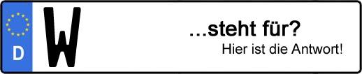 Wofür steht das Kfz-Kennzeichen W? | Kfz-Kennzeichen - AUTOPURISTEN.net