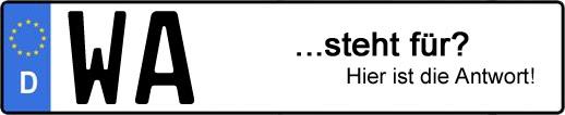 Wofür steht das Kfz-Kennzeichen WA? | Kfz-Kennzeichen - AUTOPURISTEN.net