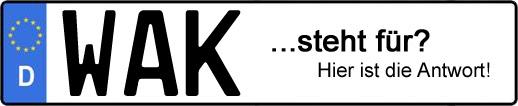 Wofür steht das Kfz-Kennzeichen WAK? | Kfz-Kennzeichen - AUTOPURISTEN.net