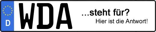 Wofür steht das Kfz-Kennzeichen WDA? | Kfz-Kennzeichen - AUTOPURISTEN.net