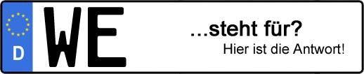 Wofür steht das Kfz-Kennzeichen WE? | Kfz-Kennzeichen - AUTOPURISTEN.net
