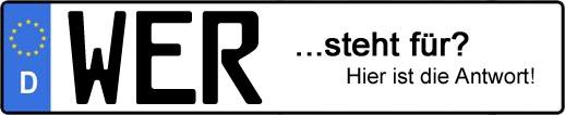 Wofür steht das Kfz-Kennzeichen WER? | Kfz-Kennzeichen - AUTOPURISTEN.net