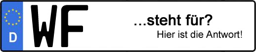 Wofür steht das Kfz-Kennzeichen WF? | Kfz-Kennzeichen - AUTOPURISTEN.net